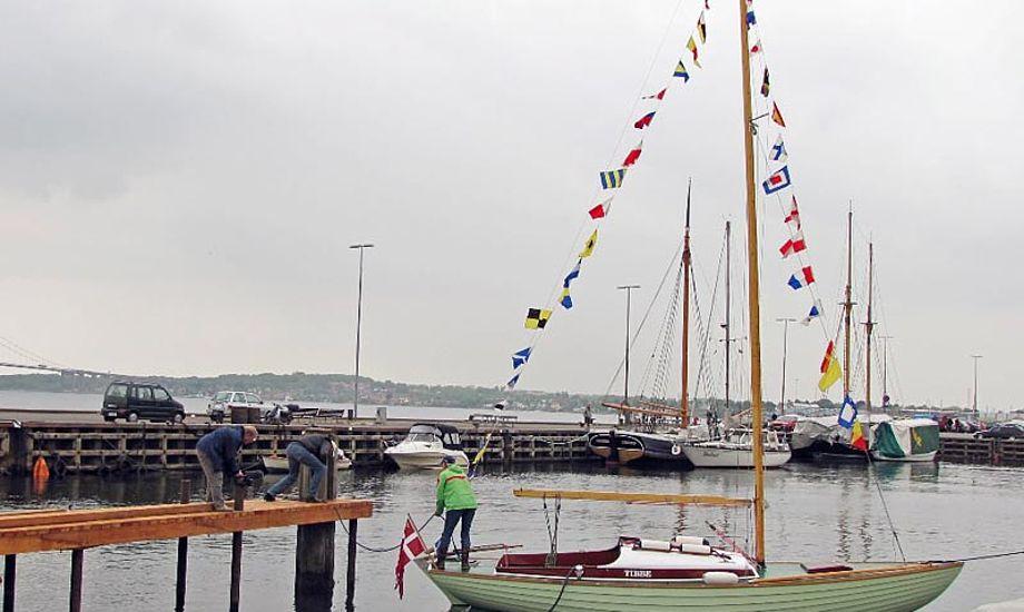 Tibbe blev renoveret af foreningen Lillebæltværftet, og blev søsat i maj 2011, så god som ny. Foto: lillebaeltvaerftet.dk