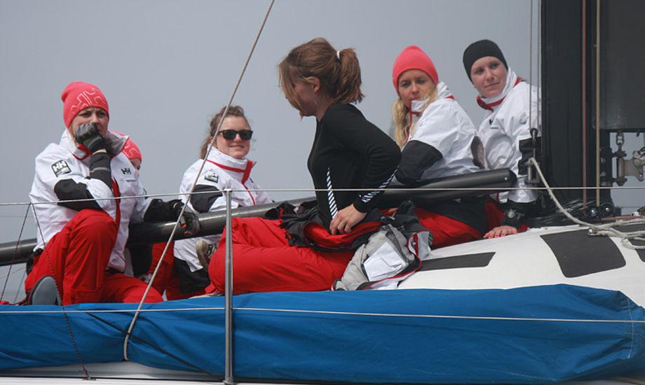 Kvindeholdet fra KDY ses her sidste år i Big Boat Challenge. Foto: Troels Lykke