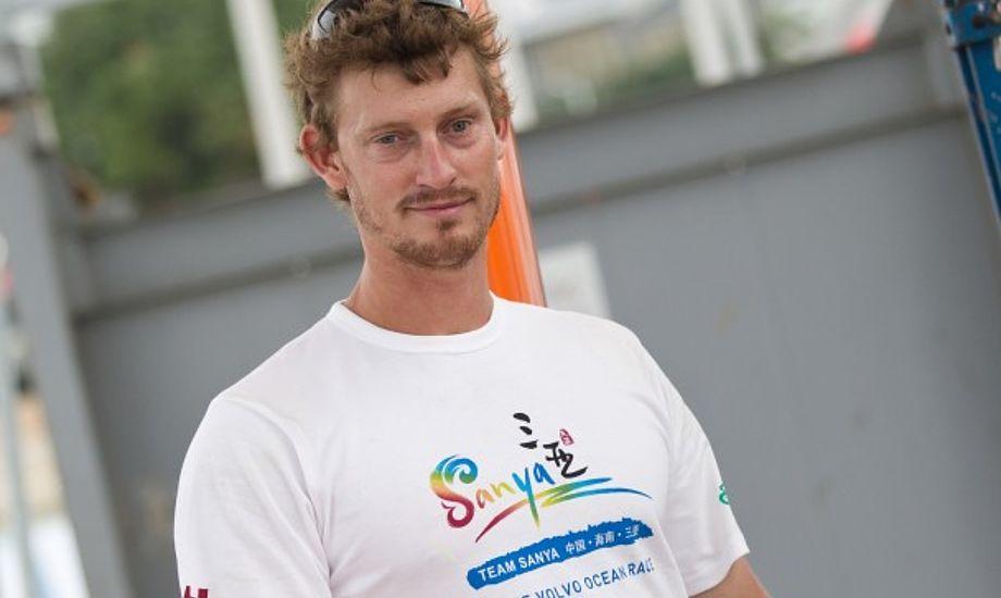 Det blev en trist omgang for Martin Kirketerp, som ikke nåede at runde Kap Horn. Foto: Volvo Ocean Race