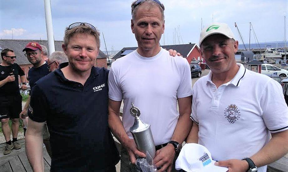 Fra venstre ses Jacob Lunding, Andre Budzien og Bo Petersen. Foto: Thomas Kvist