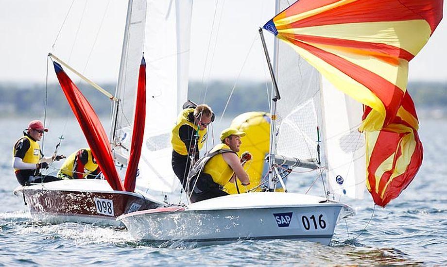 Skal brdr. Bojsen Møller igen nøjes med en 2.plads? Foto: Mick Anderson/sailing Aarhus
