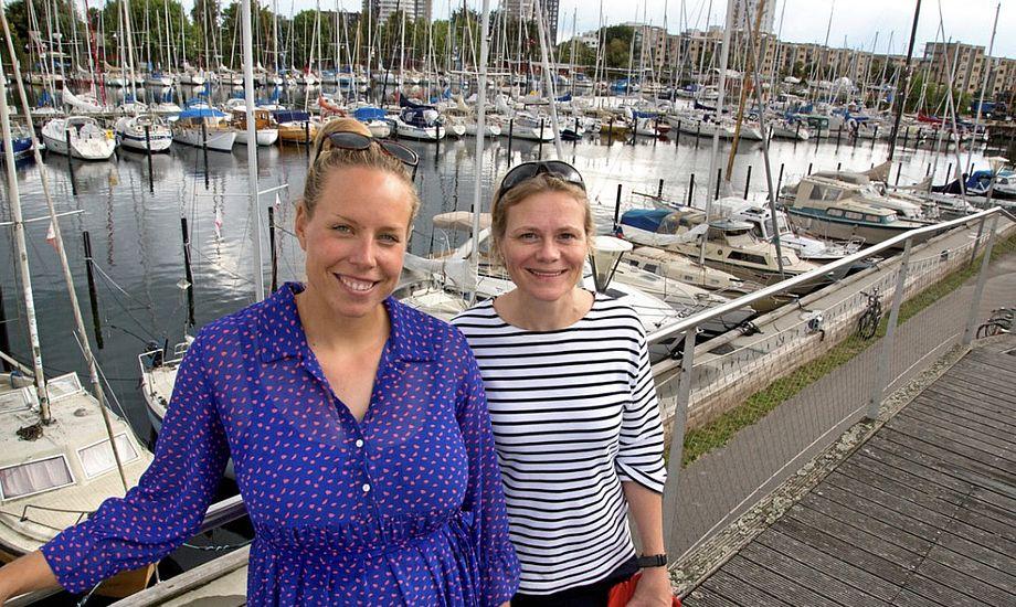 Josefine Boel Rasmussen og Henriette Koch drømmer om at fastholde kvinderne i sejlsportsmiljøet. Foto: Sejlsportsligaen
