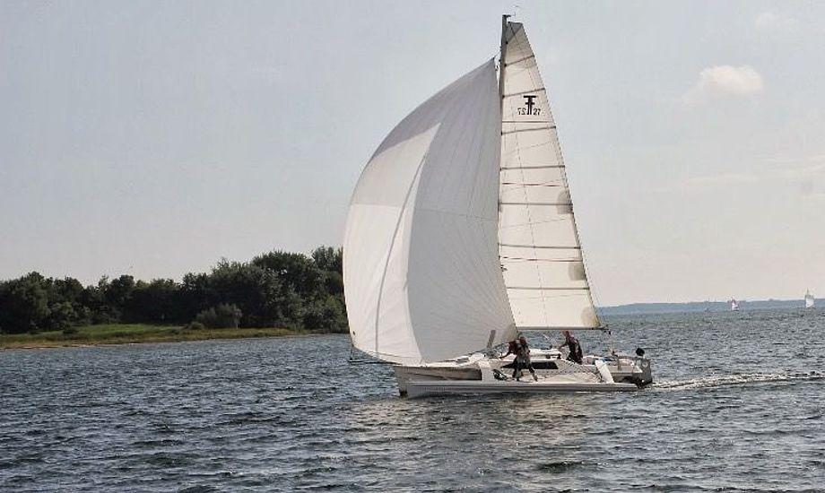 Læs mere om denne Corsair i artiklen. Foto: Yachtbroker
