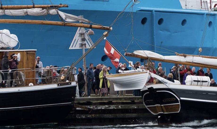 Havets skipper sad på toilet, da hans skib blev påsejlet. Foto: Søren Stidsholt Nielsen, Søsiden, Fyns Amts Avis
