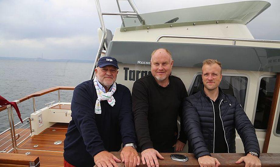 De tre ejere af Reese Marin. Fra venstre Henrik Reese Michael Homan og Kasper Reese. Foto: Troels Lykke