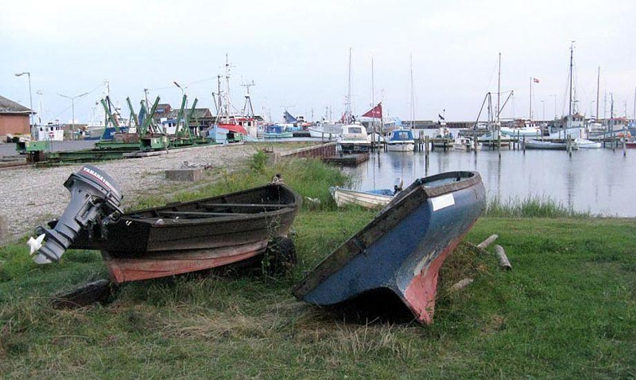 Klintholm Havn er en fiskerby med butikker, restauranter og caféer tæt på Møns Klint. Foto: wikipedia