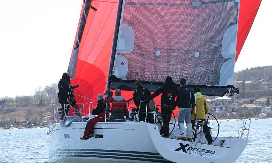Hans Viggaard, direktør fra X-Yachts, deltog i Elvstrøms træningsweekend i Aabenraa med sin nye Xp44.