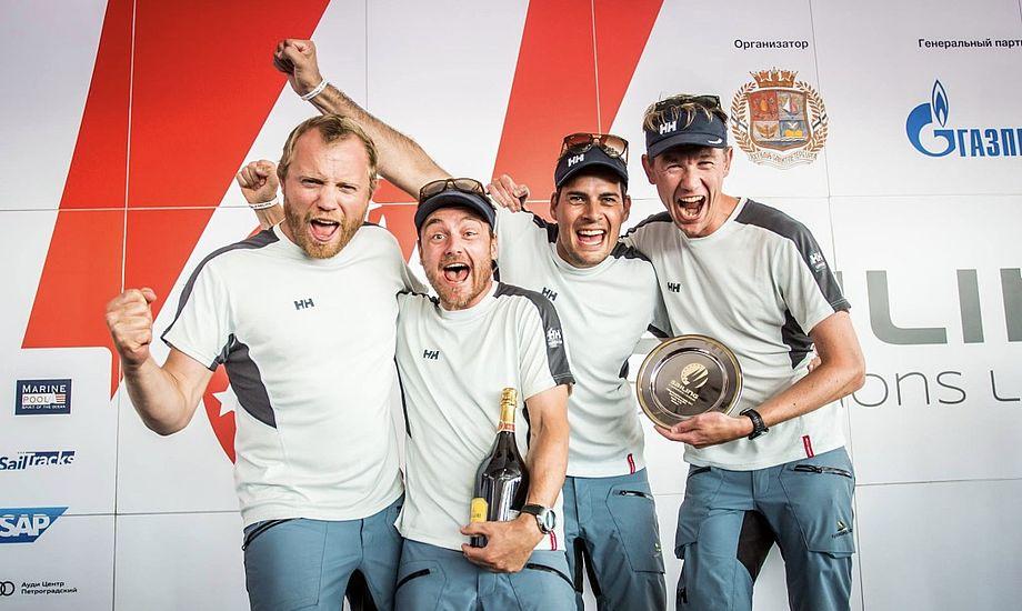 Den flotte andenplads ved Sailing Champions League, hvor de fire bedste teams fra hvert land med en national sejlsportsliga er inviteret, kunne få selv en sindig nordjyde til at løfte hænderne i vejret. Foto: Sailing Champions League