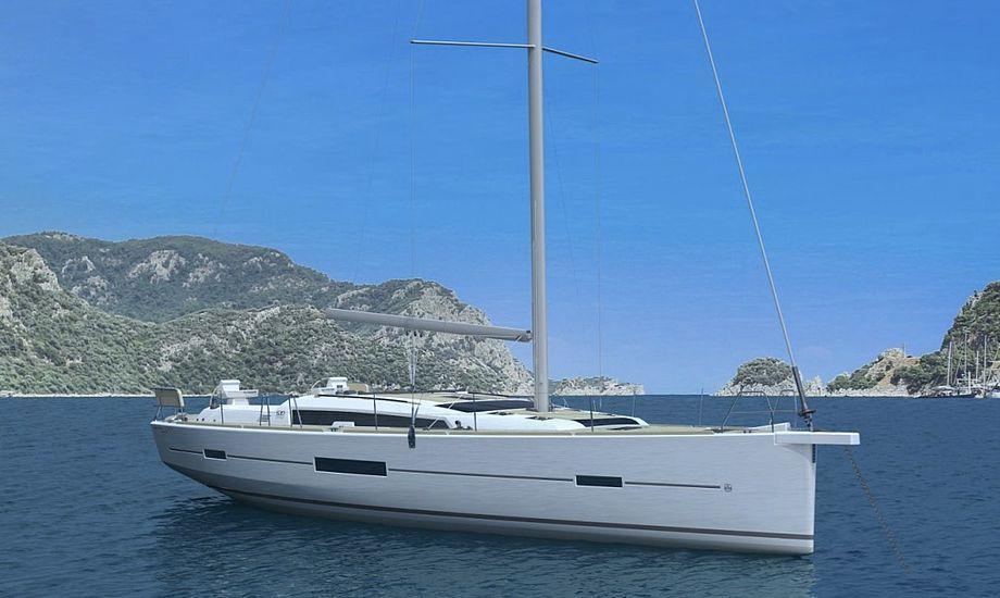 Den nye Dufour leveres med otte køjer fordelt i fire kabiner. Foto: PR-foto