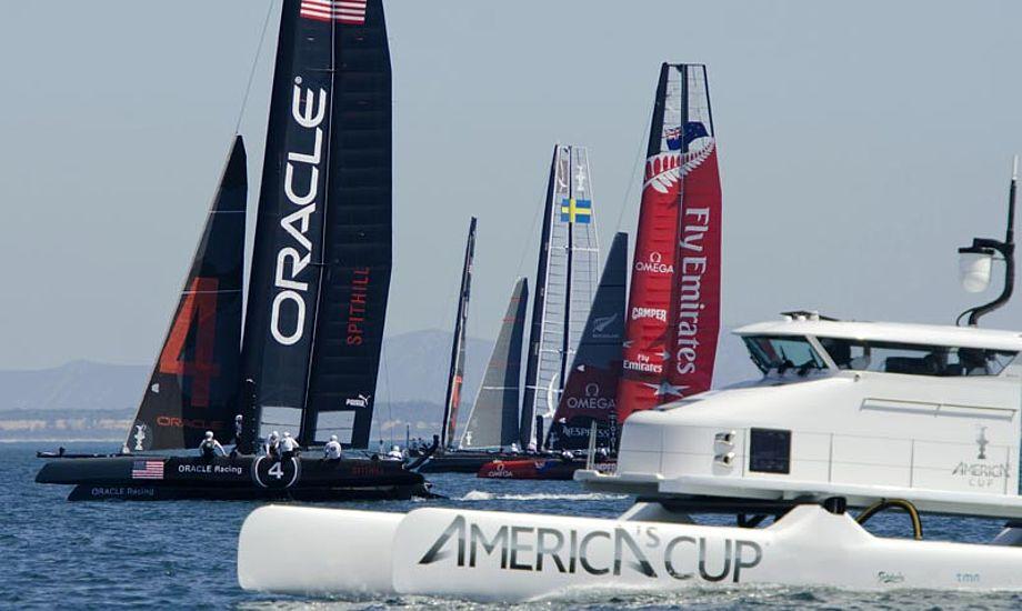Anden etape af Americas Cup World Series starter på lørdag i Plymouth, England. Foto: Gilles Martin-Raget/americascup.com