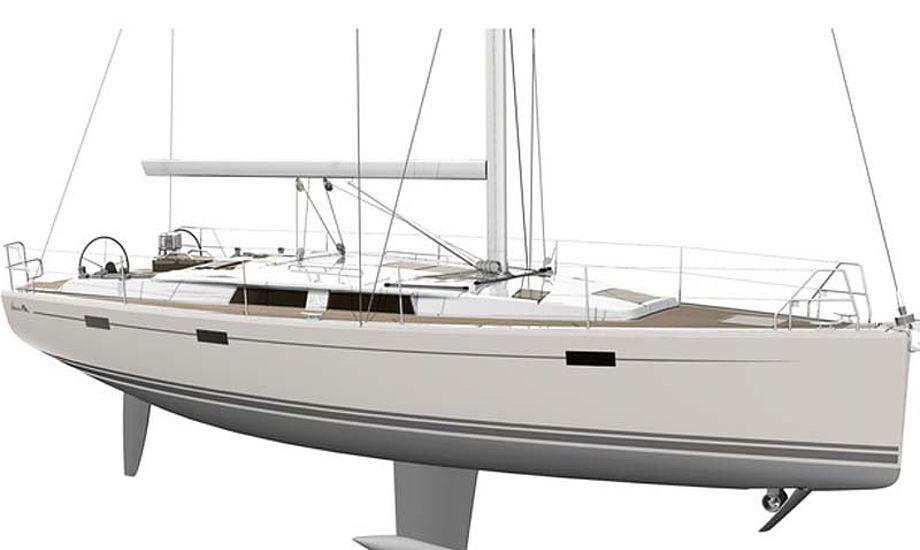 Ifølge et polardigram fra Hanse i Tyskland skal denne Hanse 415 kunne sejle mellem 6,5 og 7,0 knob.