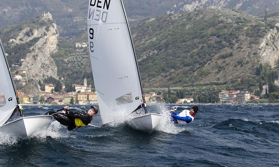 Anne Livbjerg vandt blandt pigerne og lillebror Mathias (til venstre i billedet) snuppede den samlede førsteplads. Den regerende verdensmester, Tobias Hemdorff (til højre) blev nr 3.