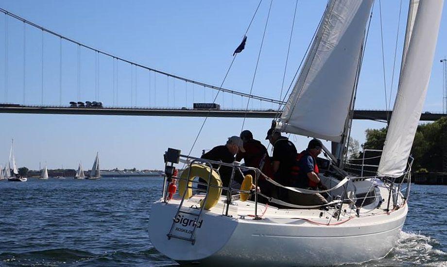 H-35eren er især god på kryds i hård vind. Den finske båd fra 1975 er noget underrigget og ikke hurtig i let luft. Foto: Troels Lykke