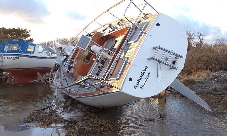 Mange sejlere blev ramt af stormfloden fordi de har droppet kaskoforsikringen. Foto: Lars Hendriksen