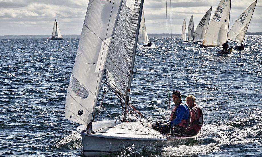 Fabiola og Michael Wonterghem, der begyndte at sejle sammen for ni år siden, er én af flere familiebesætninger i 505-klassen. Foto: Anders Lund