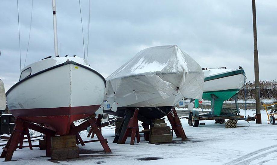 Så meget sne har vi heldigvis ikke haft år. Her er det Skovshoved havn i 2013. Foto: Katrine Bertelsen
