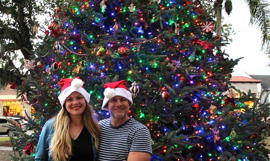 Glædelig jul fra Florida fra Signe Storr og Henrik Hansen, der lever på en svensk Alegro 30.