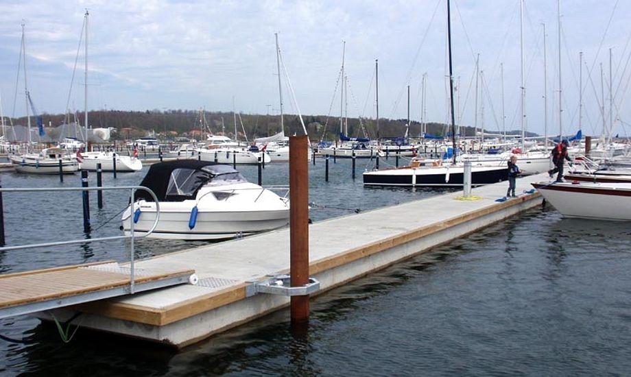 Aabenraa havn har 350 nye pladser. Foto: NBC