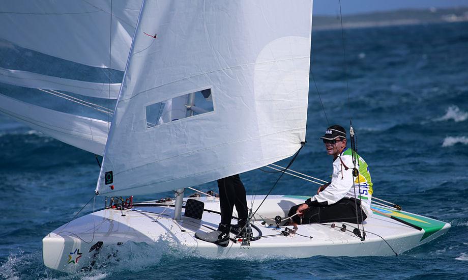 Torben Grael kæmper i Starbåden på Bahamas for tiden. Foto: Troels Lykke