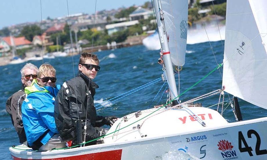 Her ses Jørgen Ring under VM i Yngling i Sydney.