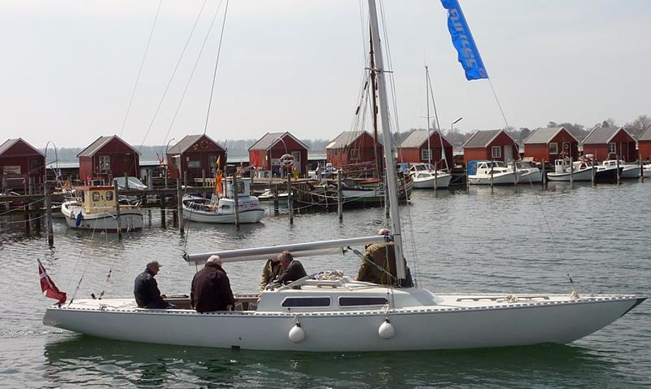 Forsidefoto fra prøvesejladsen i Rødvig havn. Foto: Katrine Bertelsen