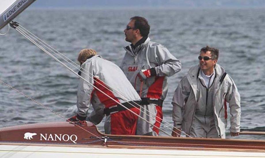 Kronprins Frederik til DM i 2011 med Theis Palm og Kasper Rosenberg Harsberg. Foto: Troels Lykke