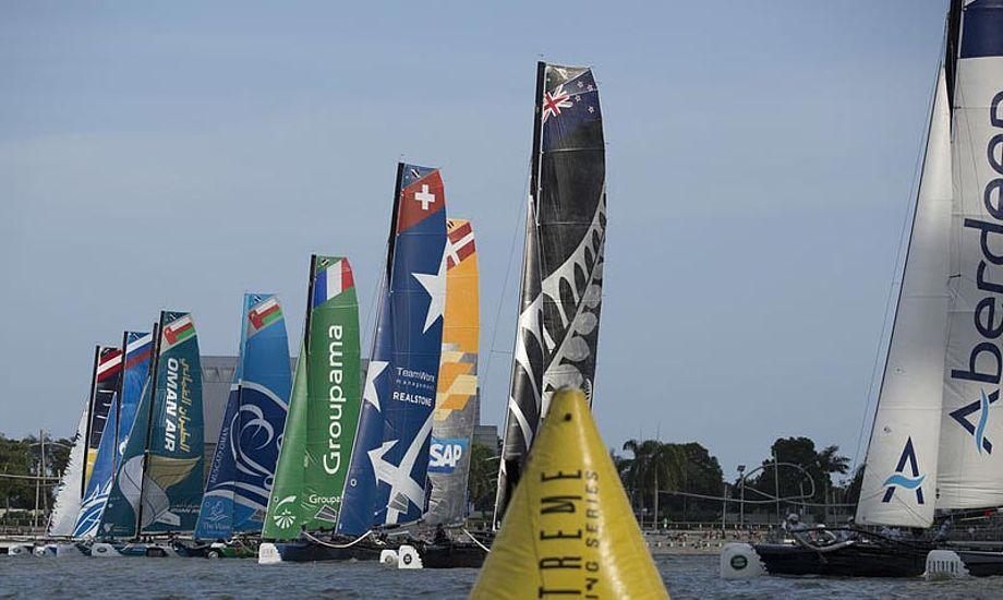 Sponsorkontrakten med SAP skal genforhandles i år. Derfor er gode resultater vigtigt. Foto: Extreme Sailing Series