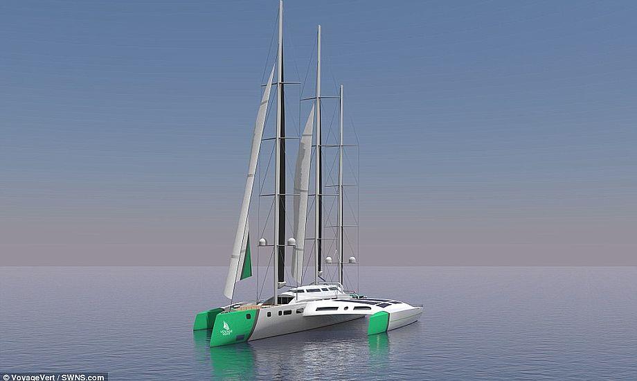 Lykkes det at bygge færgen, vil den få en længde på 110 meter. Foto: VoyageVert