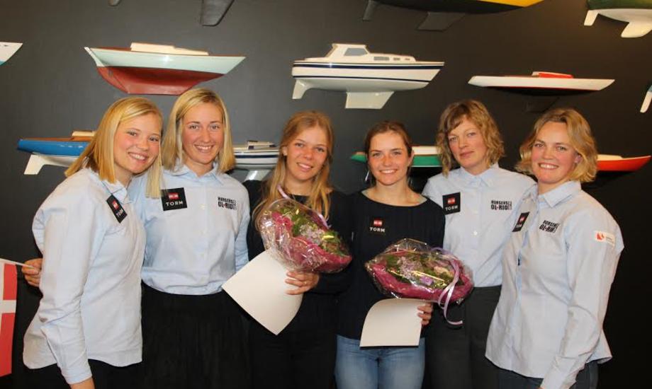 Nyfriserede topsejlere. Fra venstre: Anne-Marie Rindom, Anette Viborg, Lærke Graversen, Iben Nielsby Christensen, Maiken Schütt og Anne-Julie Schütt. PR-foto