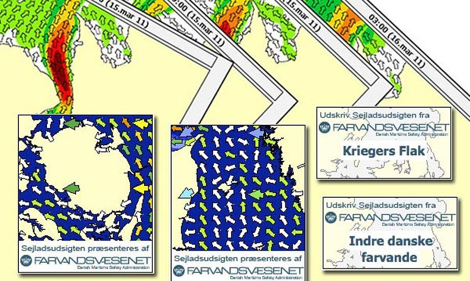 Der er mange funktioner på Farvandsvæsenets hjemmeside, der hurtigt giver adgang til lige de oplysninger du skal bruge.