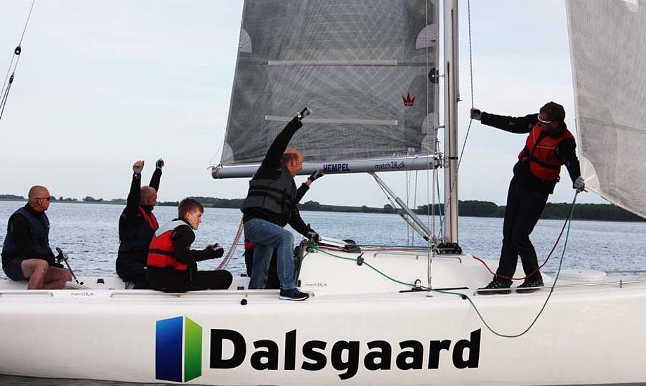 Profilering og aktivering er årsagen til at Dalsgaard Pavilloner nu sponsorerer en båd i Middelfart.