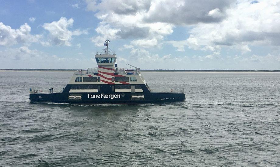 Tager du færgen til Fanø, kan det om få år blive i én af de moderniserede hybridfærger. Foto: Sara Sulkjær