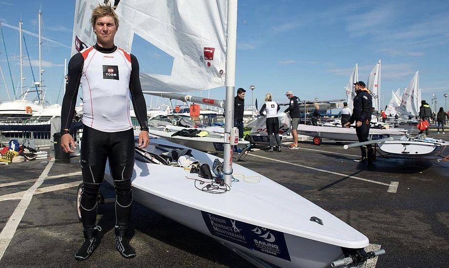 Michael Hansen skal i aften dansk tid for første gang i aktion til OL. Foto: Dansk Sejlunion