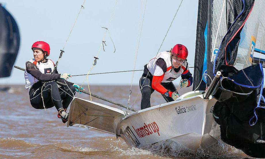 I Argentina sejlede Ida Marie Baad og Marie Thusgaard en VM-bronze hjem i november sidste år, men det var ikke nok til at blive udtaget til OL. PR-foto fra VM