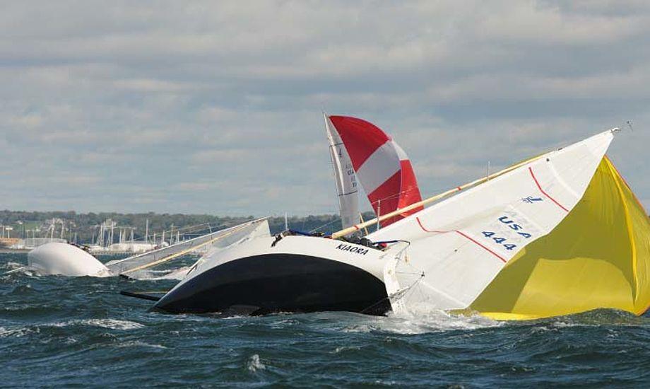 J-både kæmper i Newport i Narragansett Bay, USA. Foto: photoboat.com