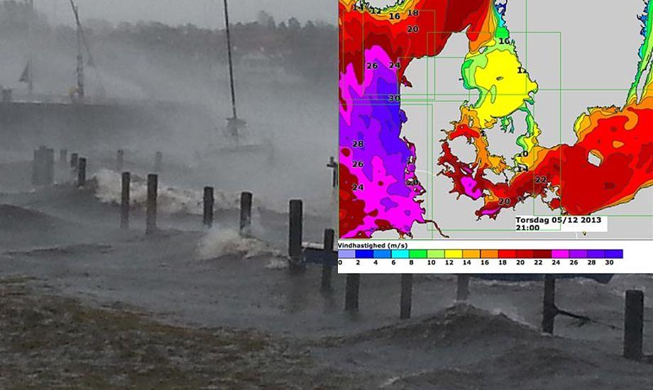Stormen bliver ikke helt så slem som den forrige. Foto: Kurt Findsen/DMI