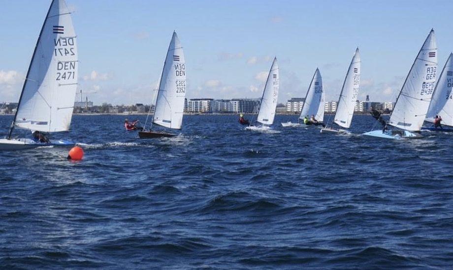 I Contender-klassen er der tradition for årligt at holde mindst to weekendstræningslejre. Foto: Ole Lahn, Roskilde Sejlklub