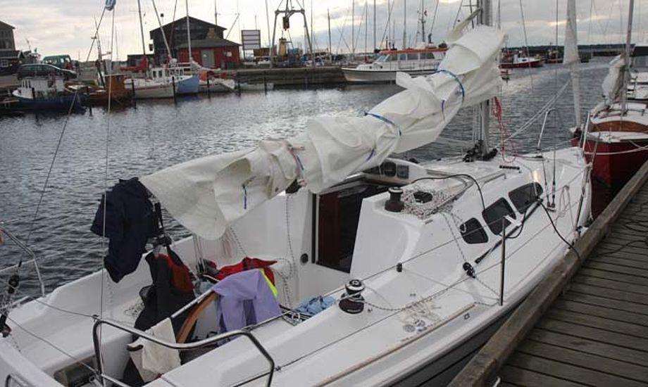 En Dehler 29 i Hundested havn, der ikke er overfyldt. Foto: Troels Lykke