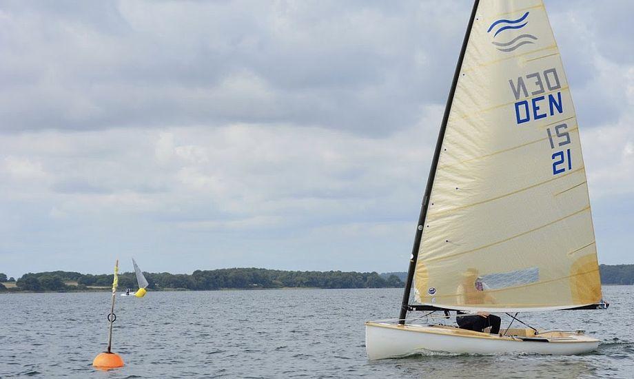 Otto Strandvig var bedste danske sejler ved DM-stævnet i Middelfart. Foto: Middelfart Sejlklub