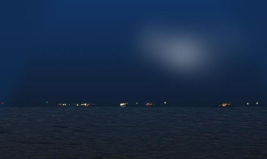 I f.eks. Øresund er det ikke så svært at navigere, da der er mange fyrtårne og andet at pejle efter. Foto: Katrine Bertelsen