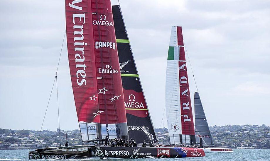 Team New Zealand ønsker at koncentrere sig om at afprøve deres AC72 forud for Louis Vuitton Cup. Foto: etnzblog.com