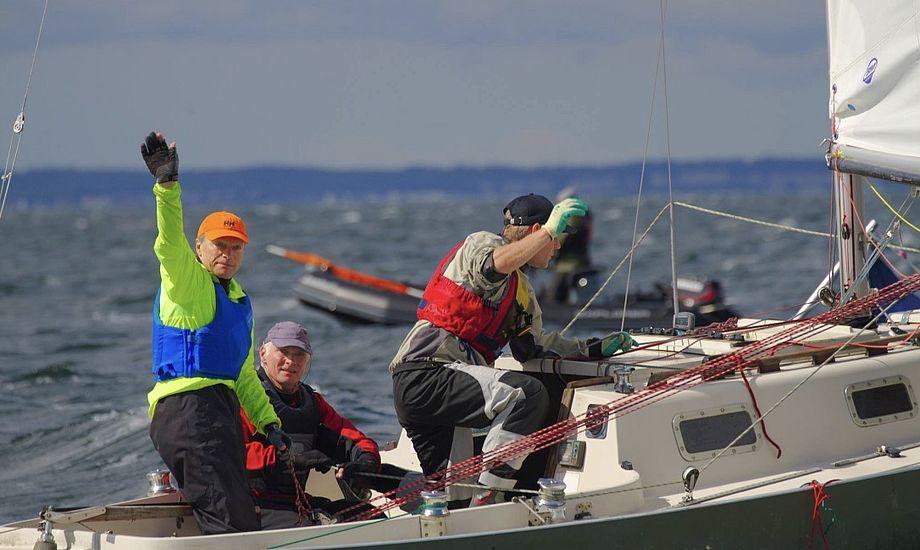 På Spækhuggeren har Jacob og Jørgen Bojsen-Møller sejl fra Jacobs sejlloft, Bojsen-Møller Sails. De er magen til de øvrige Bojsen-Møller-sejl til Spækhuggere, garanterer Jacob. Foto: Anders Lund Foto