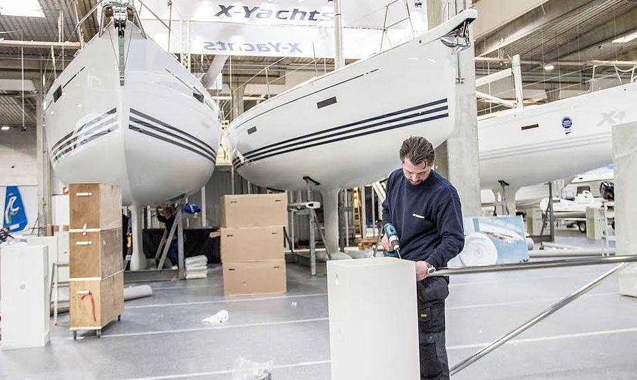 Også hos X-Yachts var der gang i forberedelserne. Haderslev-virksomheden viser den nye X4, som repræsenterer den nye cruising-linje, samt Xc 38 og Xp 38.