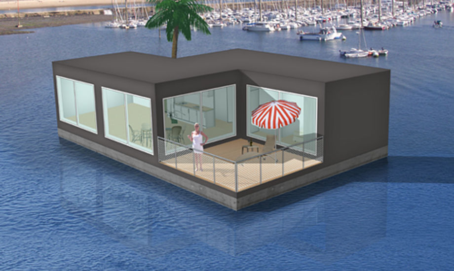 Sådan kan en husbåd se ud. Foto: aquadomi.dk
