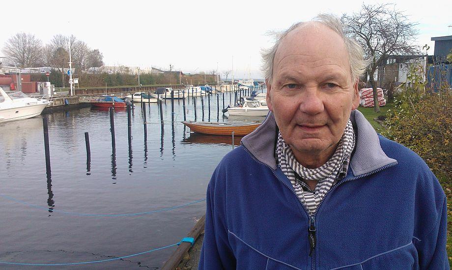 Claus Rønnow i Sundby Sejlforening, hvor holder til med sin Bandholm 33, som han har sammen med Karin. Foto: Troels Lykke