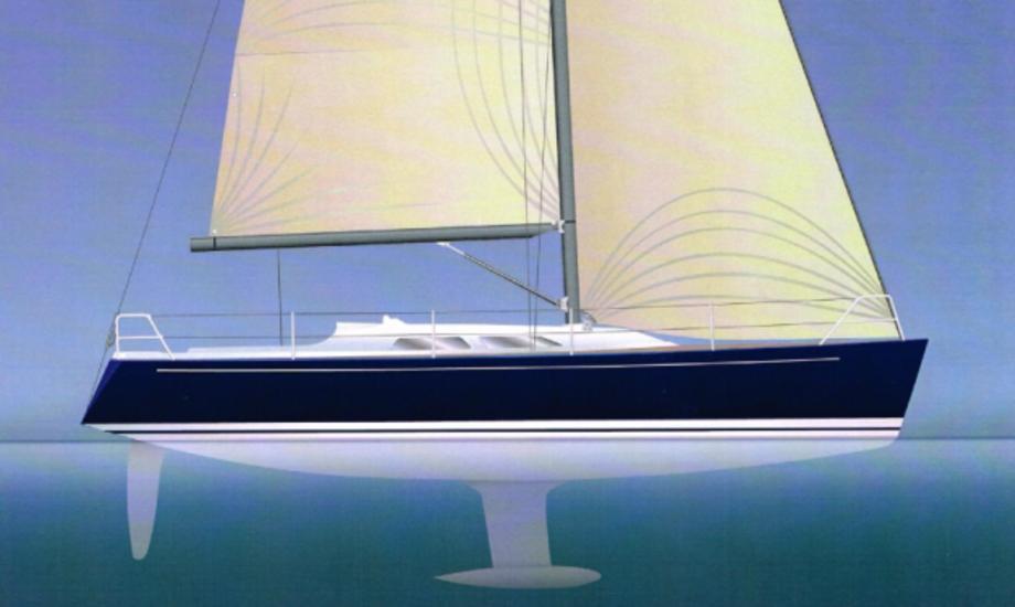 Sådan kommer hun til at se ud, Luffe 3.6. Tegning: Luffe Yachts
