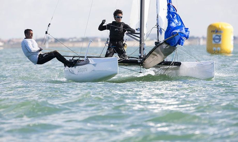 Franck Cammas havde god fart i La Rochelle. Foto: ffvoile.fr