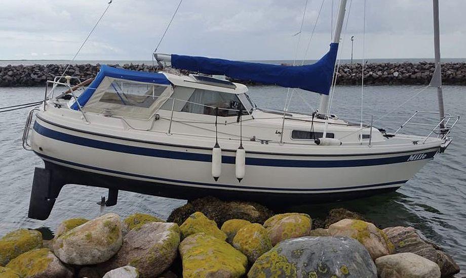 De sidste tyve år har Svend Findaln haft båd i Hou Havn. Da hans nye LM 28 skulle sejles til hjemhavnen, gik det dog galt. Foto: Jan Veggebro