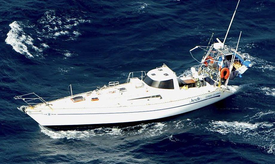 'Jedi 1' mistede masten i den sydlige del af Det Indiske Ocean. Foto: Australian Maritime Safety Authority