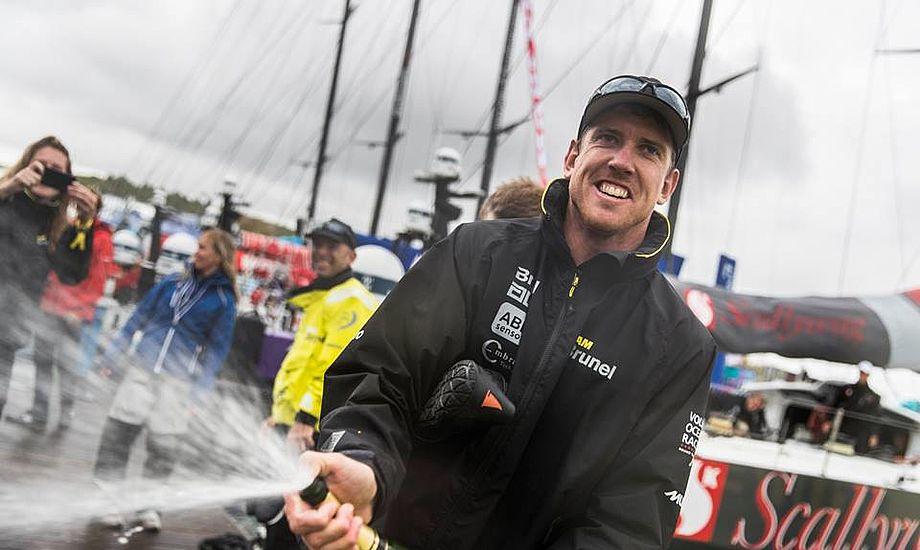 Peter Burling kaldes for the Golden Boy. Han går efter at vinde Volvo Ocean Race, i forvejen har han vundet OL og America's Cup. Foto: Brunel